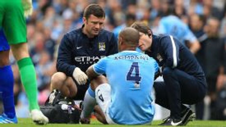 Vincent Kompany could spend a month on the sidelines.