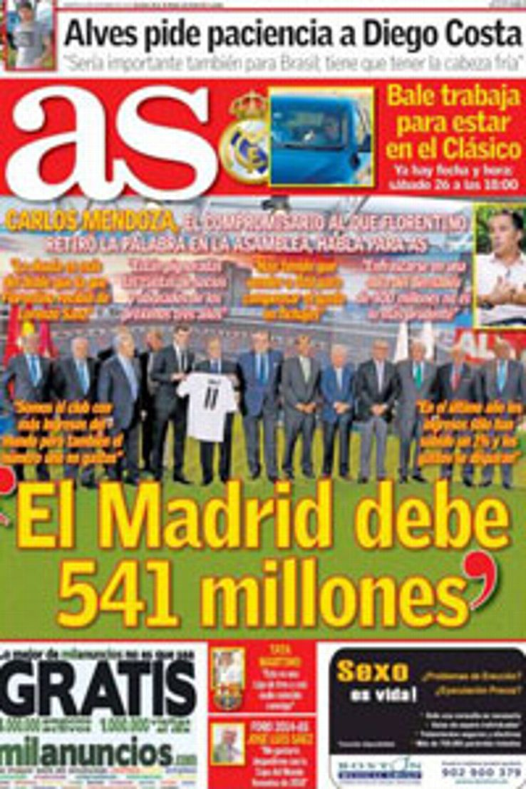 AS' front cover on October 8, 2013.
