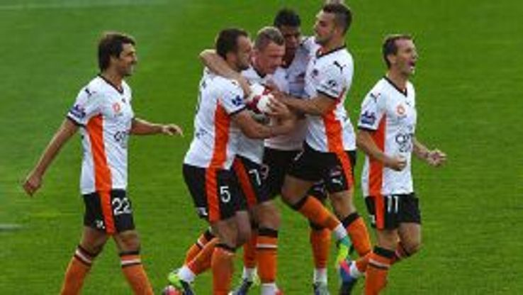 Ivan Franjic's injury time goal handed Brisbane an opening round victory.