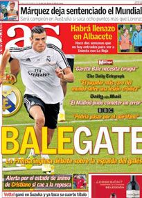 There is suspicion about the extent of Gareth Bale's injury in Spain.