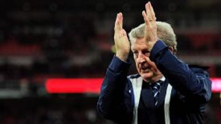 Roy Hodgson claps the England fans after Friday night's crucial win against Montenegro.