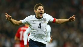 Steven Gerrard doubled England's advantage in the closing minutes to make sure of their qualification.