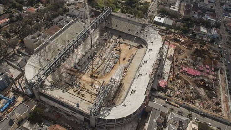 Arena da Baixada was due to have a retractable roof in time for the 2014 World Cup, but those plans have been cancelled.