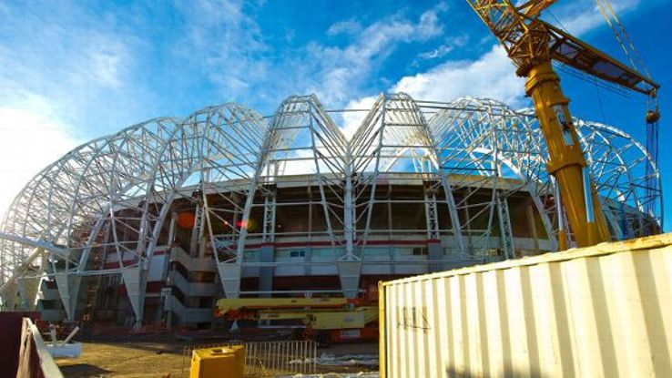 The Estadio Beira-Rio has undergone refurbishment ahead of the 2014 World Cup.