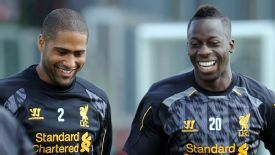 Liverpool full-backs Glen Johnson and Aly Cissokho should soon be available.