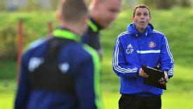 Gus Poyet training Sunderland