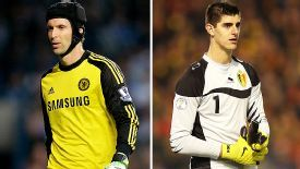 Chelsea's Petr Cech and Thibaut Courtois