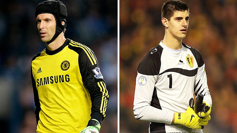 Chelsea's Petr Cech and Thibaut Courtois