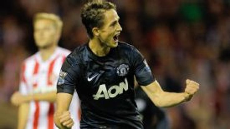 Adnan Januzaj celeb Man Utd v Sunderland
