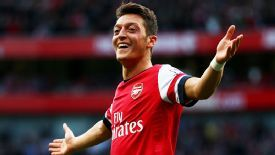 Mesut Ozil notched Arsenal's second at home to Norwich City.