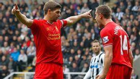 Steven Gerrard century celeb Newcastle v Liverpool