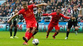 Steven Gerrard century goal Newcastle v Liverpool