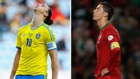 One of either Zlatan Ibrahimovic or Cristiano Ronaldo will not be going to Brazil.