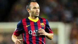 Iniesta made his debut for Barca in La Liga in 2002.