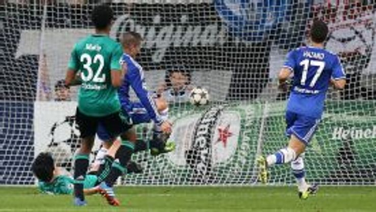 Fernando Torres scores his side's second goal of the game