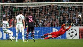 James Forrest slots home from the spot against Ajax.