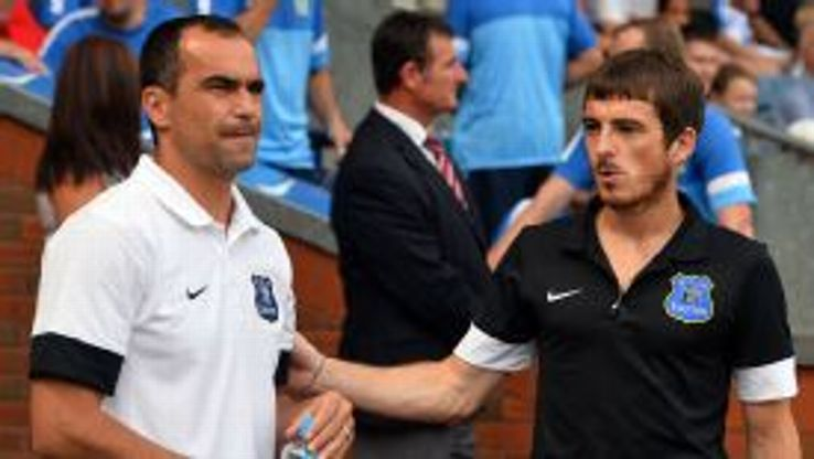 Roberto Martinez says he is only concerned with Leighton Baines' performances at present.