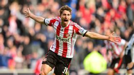 Fabio Borini celebrates his stunning late winner for Sunderland.