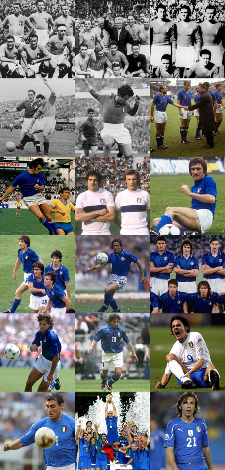 Italy are World Cup stalwarts, finding success in the early years.