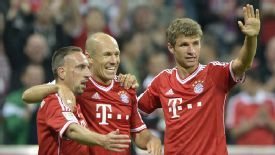 Franck Ribery, Arjen Robben and Thomas Mueller are among the Bayern stars on the shortlist.