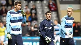 Costel Pantilimon and Joe Hart