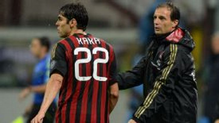 Kaka scored the first goal of his second AC Milan spell against Lazio, but it was not enough for Milan to win.