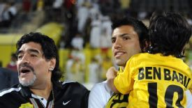 Sergio Aguero was married to Diego Maradona's daughter for four years.
