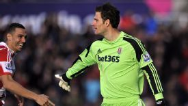 Stoke goalkeeper Asmir Begovic was selected for his goalscoring potency.