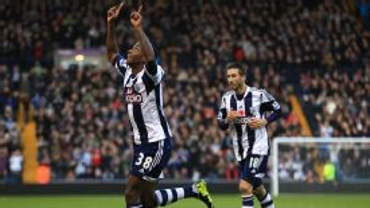 Saido Berahino put West Brom in front against Crystal Palace.