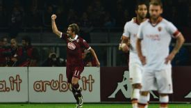 Alessio Cerci celebrates his goal against Roma.