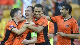Matthew Smith wrapped up Brisbane Roar's win over Melbourne Heart.