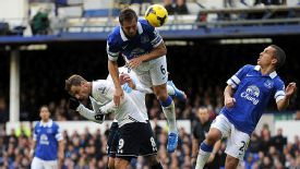 Roberto Soldado struggled for clear-cut chances against Everton.