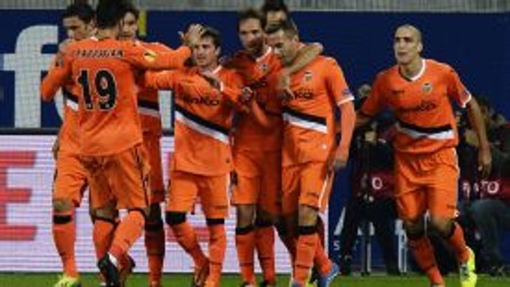 Valencia came from behind to secure a late win against St Gallen.