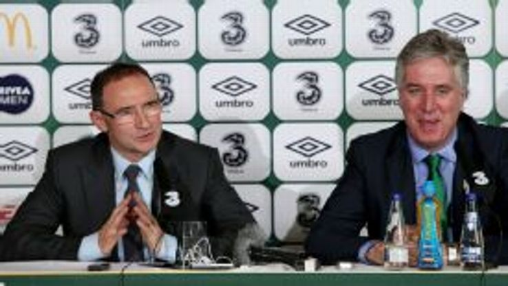 New Republic of Ireland manager Martin O'Neill is unveiled.
