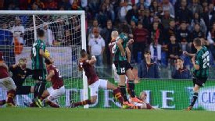 Domenico Berardi strikes home the leveller.