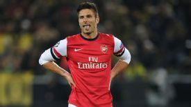 Olivier Giroud has played 21 games in 89 days this season.