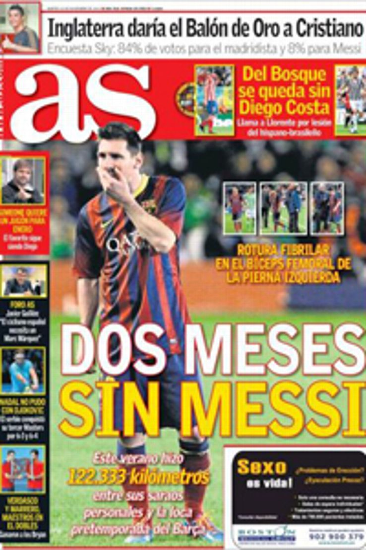 Change in Barcelona's medical department may be a factor behind Lionel Messi's injury, according to an AS report.
