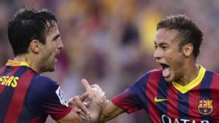 Cesc Fabregas and Neymar are in line to fill in for Lionel Messi while he is injured.