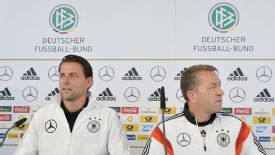 Roman Weidenfeller and Andreas Koepke address the media following the Dortmund keeper's call-up.