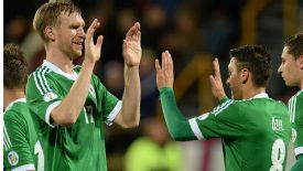 Per Mertesacker and Mesut Ozil Germany: Teammates for club and country.