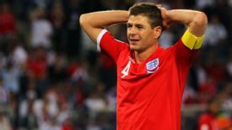 Steven Gerrard captained England when they lost in embarrassing fashion to Germany at the 2010 World Cup.