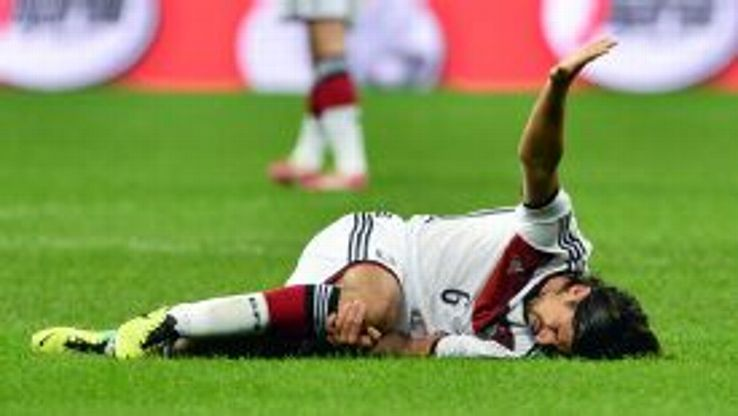 Sami Khedira faces a battle to return in time for the World Cup.