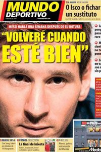 Mundo Deportivo's front cover on Nov. 18.