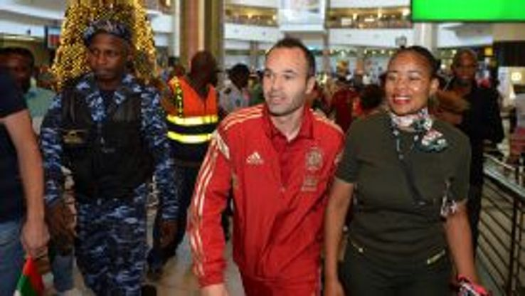 Andres Iniesta is back in Johannesburg, scene of his World Cup-winning goal in 2010.