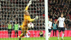 Joe Hart was beaten by Per Mertesacker's excellent header.