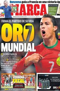 Madrid-based Marca hailed Ronaldo's performance as the match of his life.