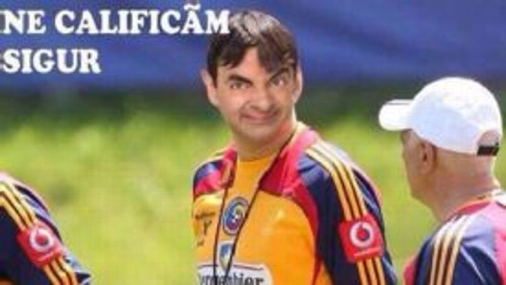 Adrian Mutu posted this digitally altered image of coach Victor Piturca on his Facebook page.