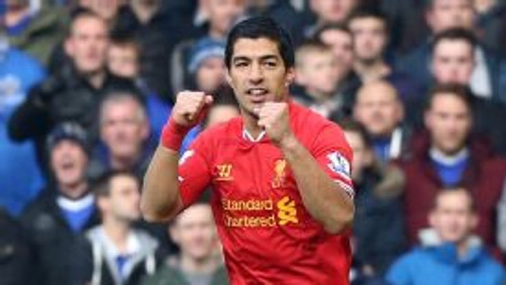 Luis Suarez made it 2-1 to Liverpool with a fine free kick.
