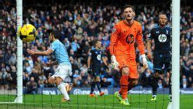 Sergio Aguero scored Man City's third goal against Spurs