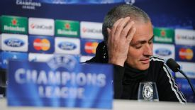 Jose Mourinho attends a news conference ahead of Chelsea's Champions League clash with Basel.